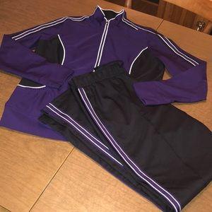 Purple St John's Bay Active 2 Pc Track Suit Set M